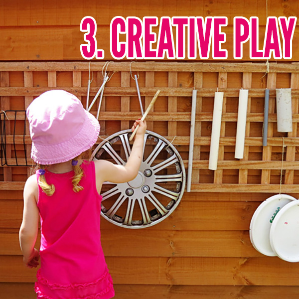 Outdoor play area ideas: Creative play