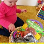 Childhood 101 | Baby Play Activities- Shiny & Reflective Treasure Basket