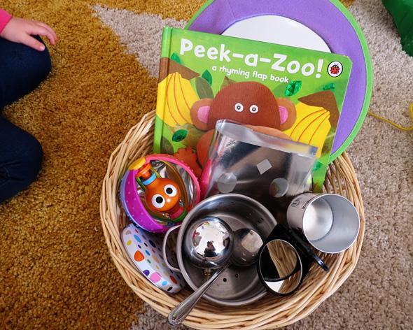 Childhood 101   Baby Treasure Basket- Shiny & Reflective