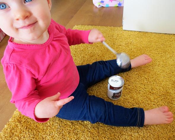 Childhood 101   Baby Play Activities- Shiny & Reflective Treasure Basket