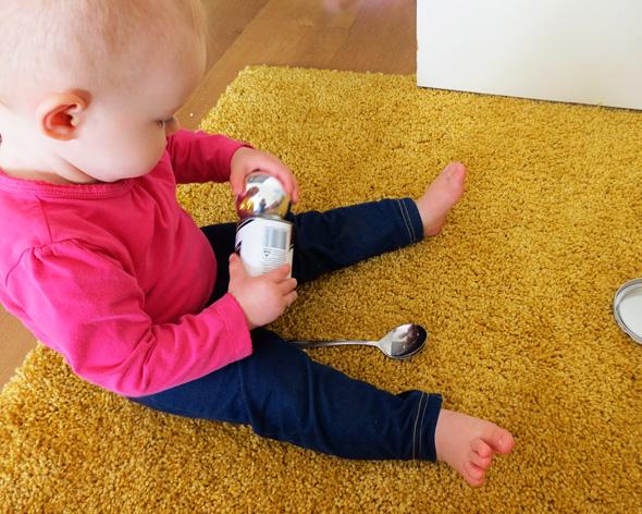 Childhood 101   Ideas for Baby Play - Treasure Basket- Shiny & Reflective