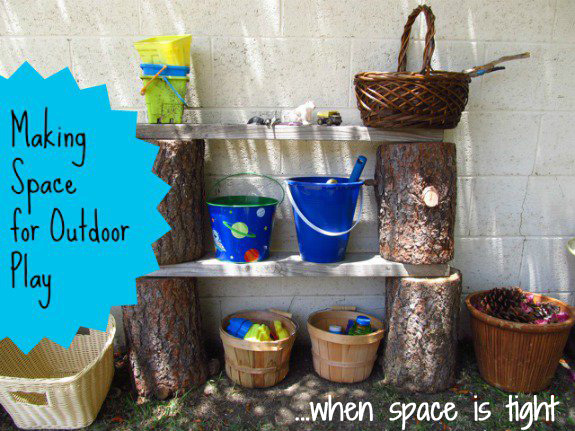 Making space for outdoor play when space is tight