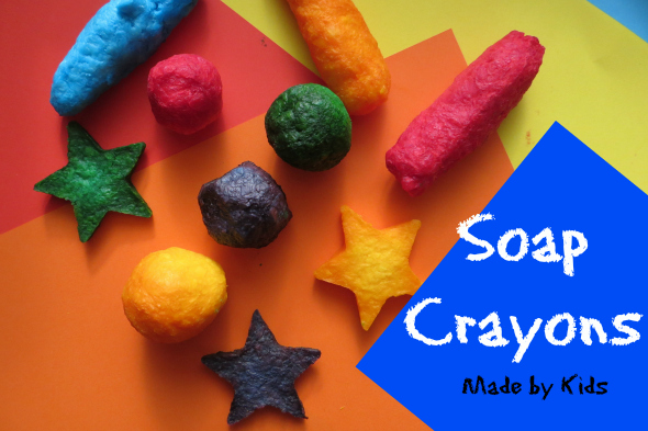 Diy soap crayons made by kids childhood101 for Soap craft for kids