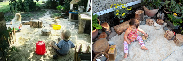 Childhood 101   Outdoor play - how to build a sandpit