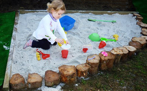 Backyard Sandpit : Building a Backyard Sandpit Ideas & Inspiration to DIY  Childhood101