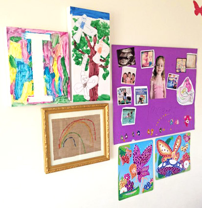 Childhood 101 | Displaying Childrens Art