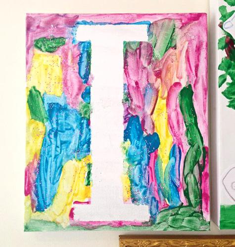 Childhood 101 | Tape art monogram