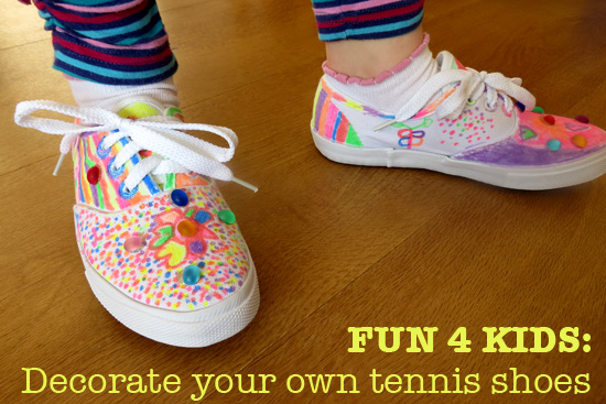 Childhood 101_Fun for kids-Decorate your own tennis shoes