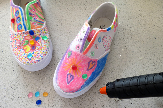 childhood 101 ideas for decorating shoes