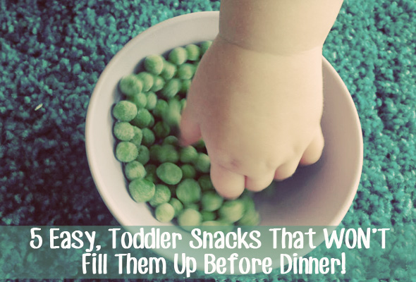 5 Toddler Snacks That WON'T Fill Them Up Before Dinner!