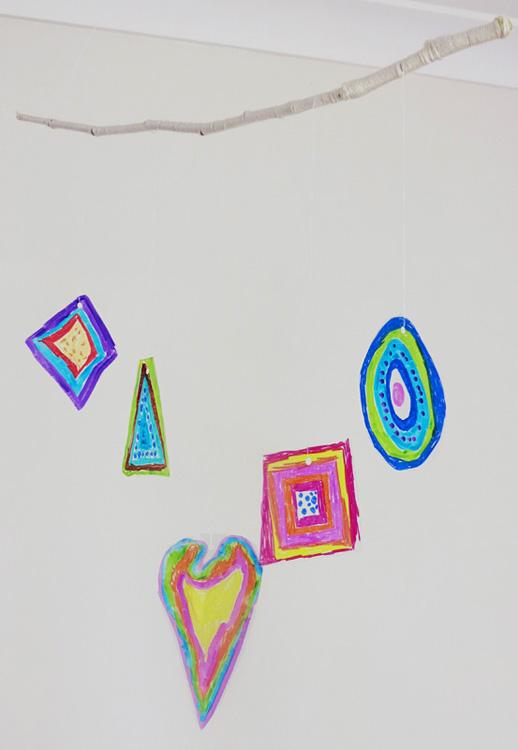 Make Your Own Kandinsky Inspired Mobile For Baby Nursery