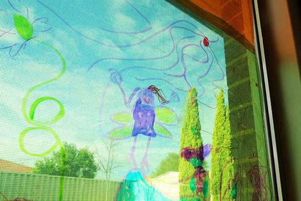 Kids Art Ideas-Cellophane Window Drawing | Childhood 101