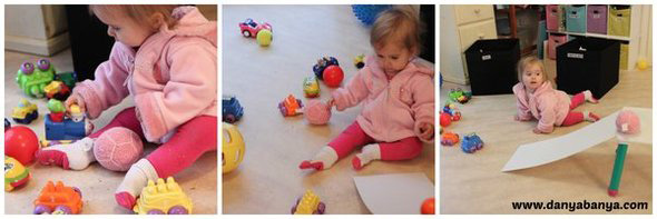 Baby Play Ideas-Balls, Cars and Ramps