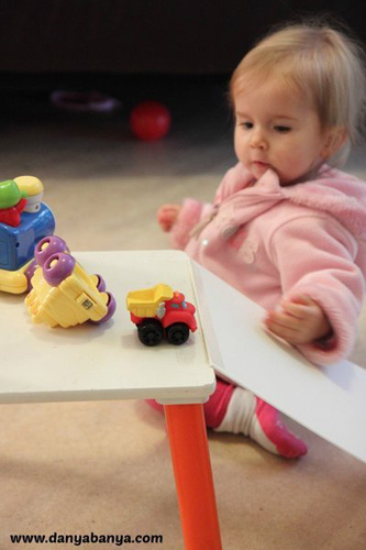 Baby Play Ideas-Ramp and vehicle exploration