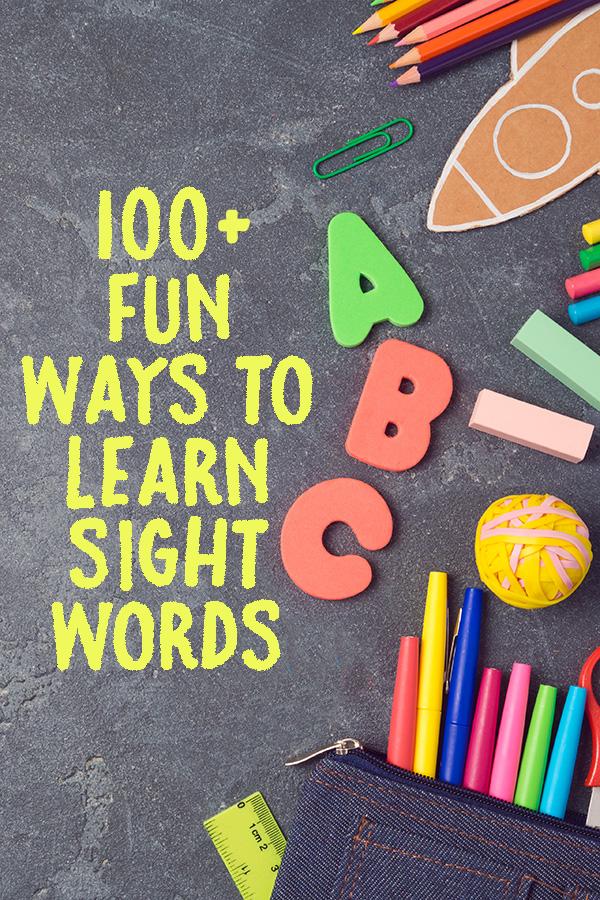 Fun Ways to Learn Sight Words