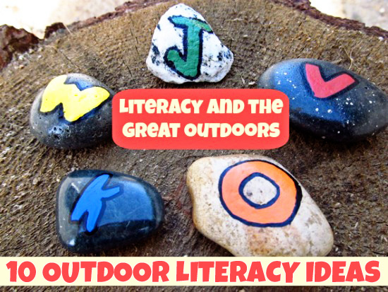 Outdoor Literacy Ideas-Alphabet Rocks