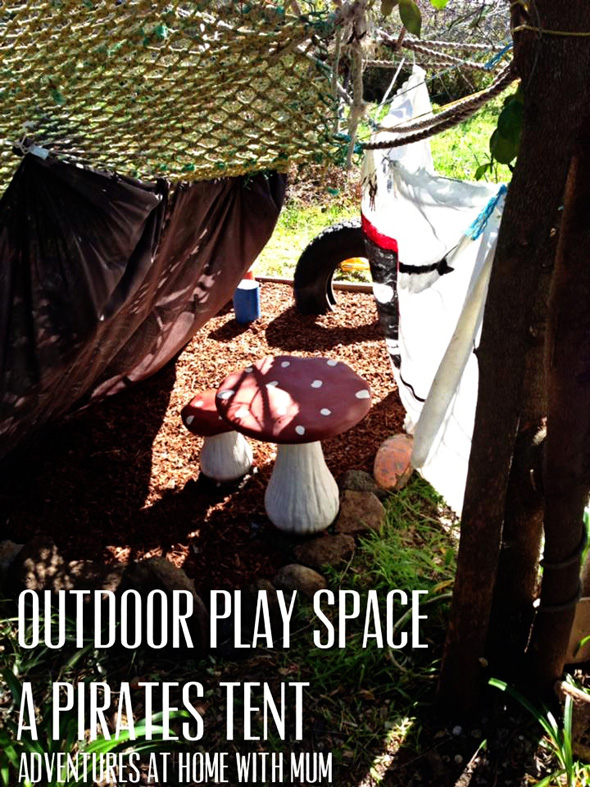 Outdoor Play Space Ideas-Pirate's Den
