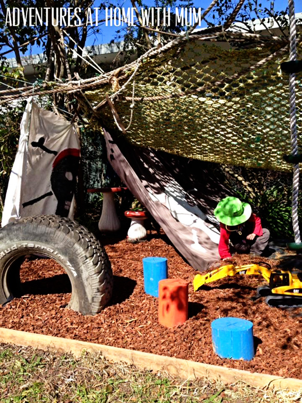 Outdoor Play Space Ideas-Pirate's Tent