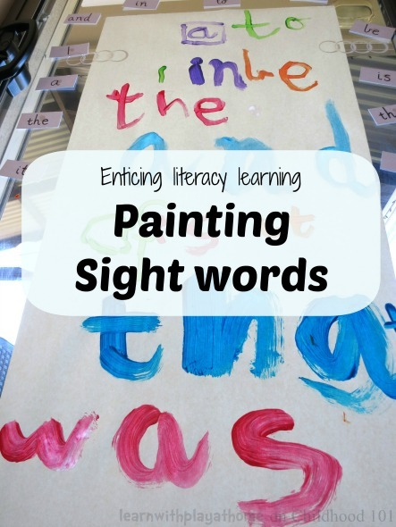 sight words painting activity