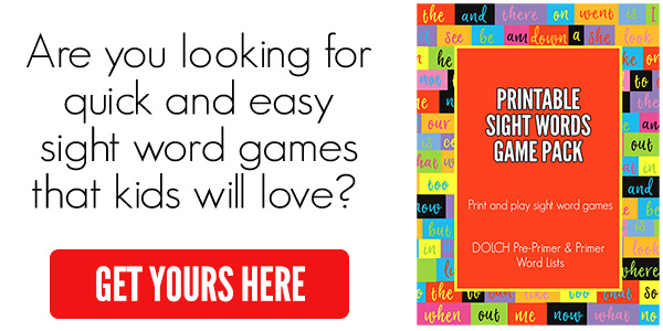 SIGHT WORD GAMES PRINTABLE ad
