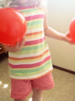 Sight words balloon matching game