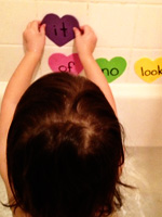 Sight words tub time activities