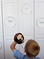paper plate sight word target practice game