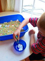 sight words sensory bin