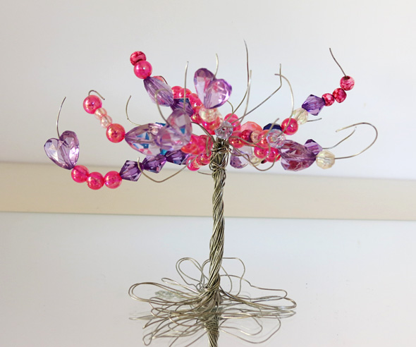 An invitation to create-Wire and bead sculpture tree from Childhood 101