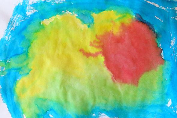 Childhood 101 | Ice painting preschool activity