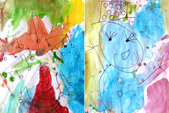 Childhood 101 | Ink and ice creations