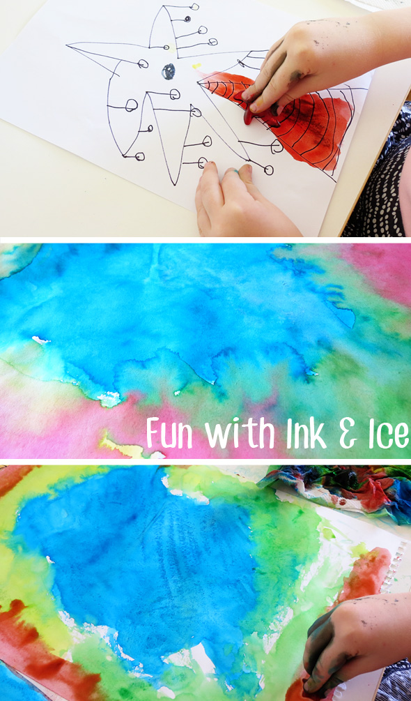 Childhood 101 | Ink and ice painting activity