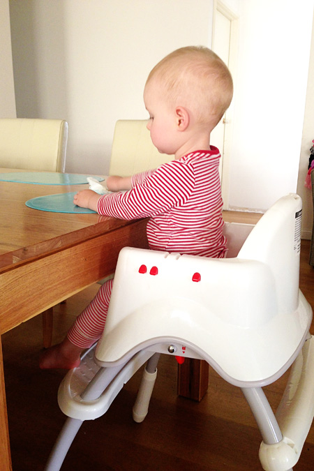 519d7fd7d78 Fisher-Price Grow with Me High Chair can also be used without the tray at