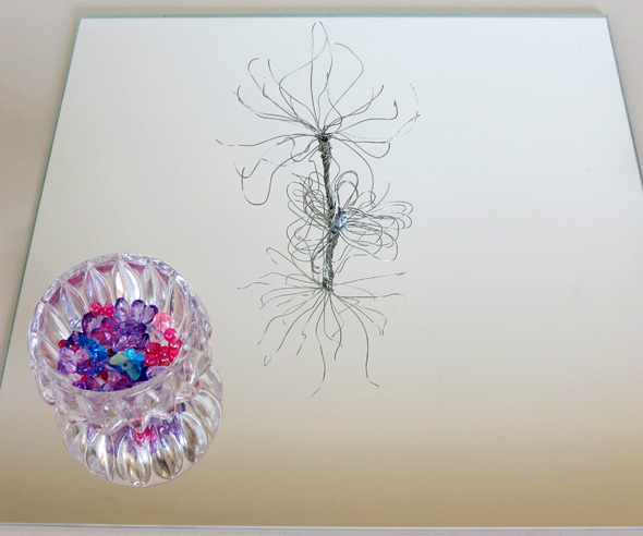 Invitation to create-Wire and bead sculpture from Childhood 101