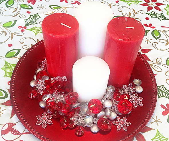 Christmas entertaining ideas- using candles