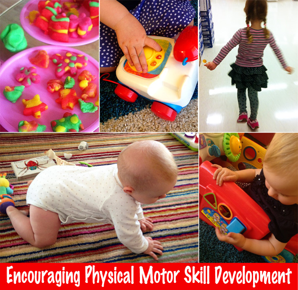 Encouraging physical motor skill development in young for Development of motor skills