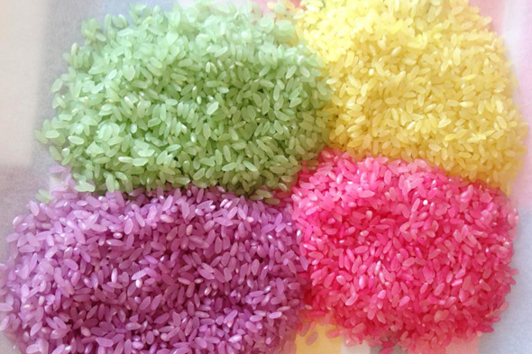 How to colour rice | Childhood 101