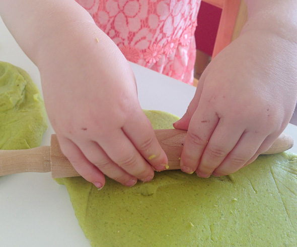 Toddler playdough fun-impression making tools-Childhood 101