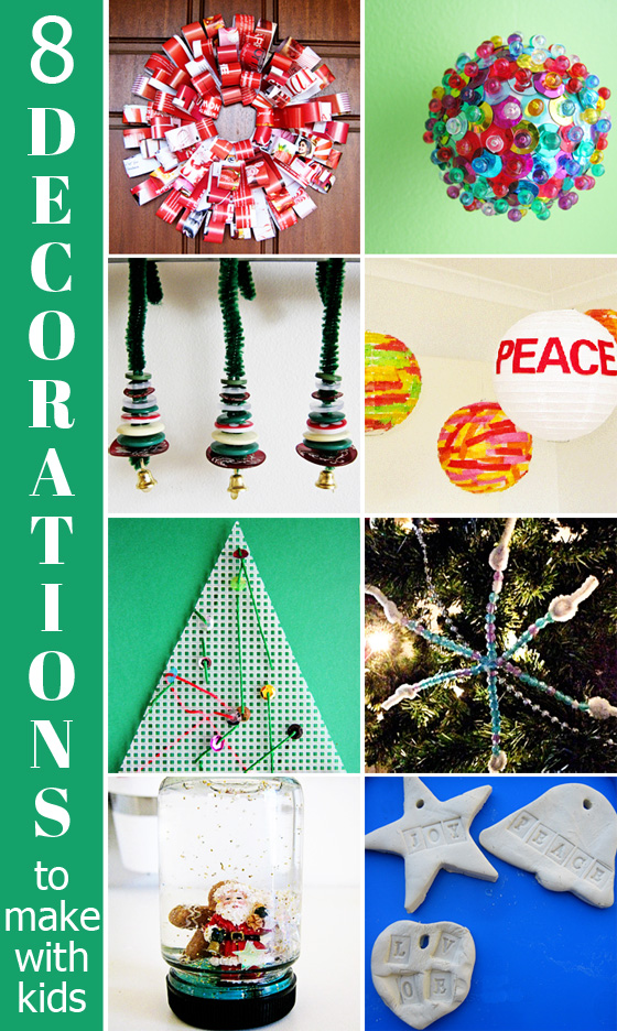 8 christmas decorations to make with kids childhood101 for Home made xmas decorations