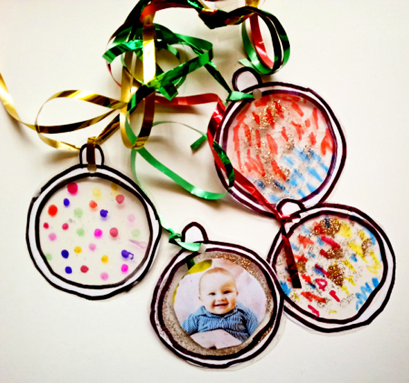 Christmas baubles laminated