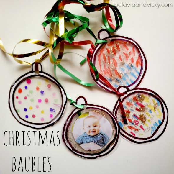 Christmas ideas: Laminated baubles