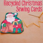 Recycled Christmas sewing cards via Childhood 101