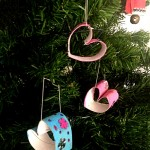 Sparkling Hearts Homemade Tree Decorations via Childhood 101