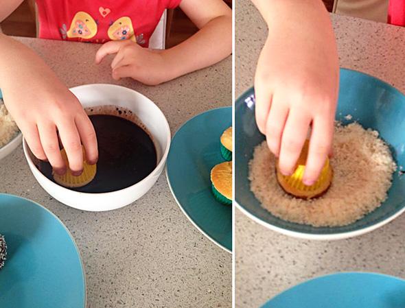 Baking with kids - Lamington cupcake recipe