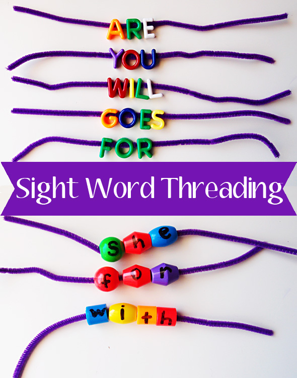 Sight word and high frequency word activities