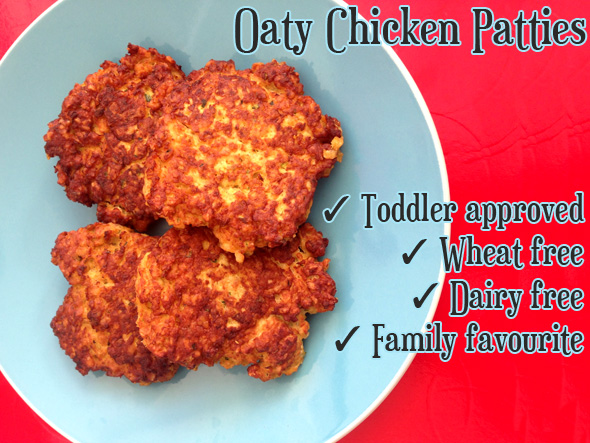 Quick meal ideas Oaty Chicken Patties