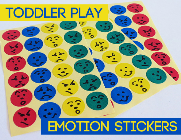 Activities for Toddlers - Emotion Stickers