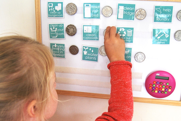 Teaching Currency Using A Chore Chart
