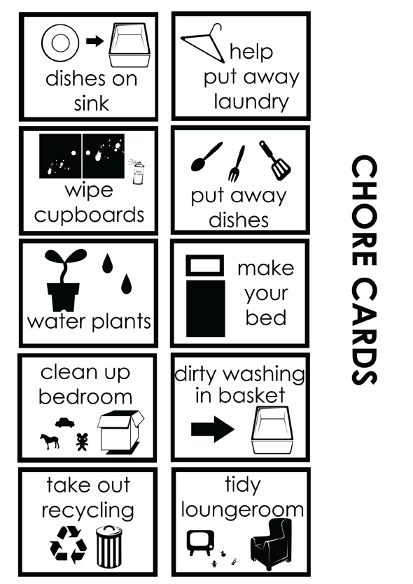 Teaching Currency and Maths Using A Chore Chart – Responsibility Chart Template