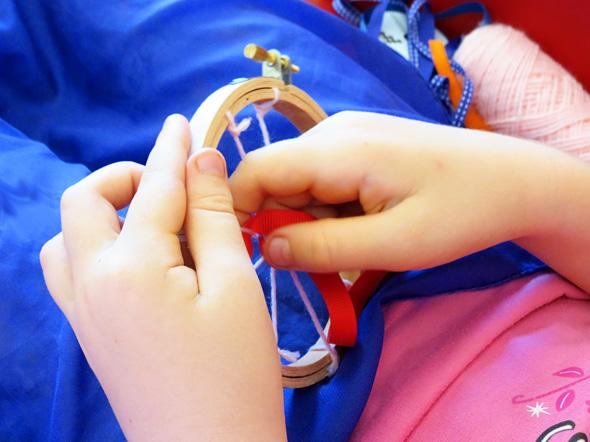 Fine motor activities for bigger kids: Weaving